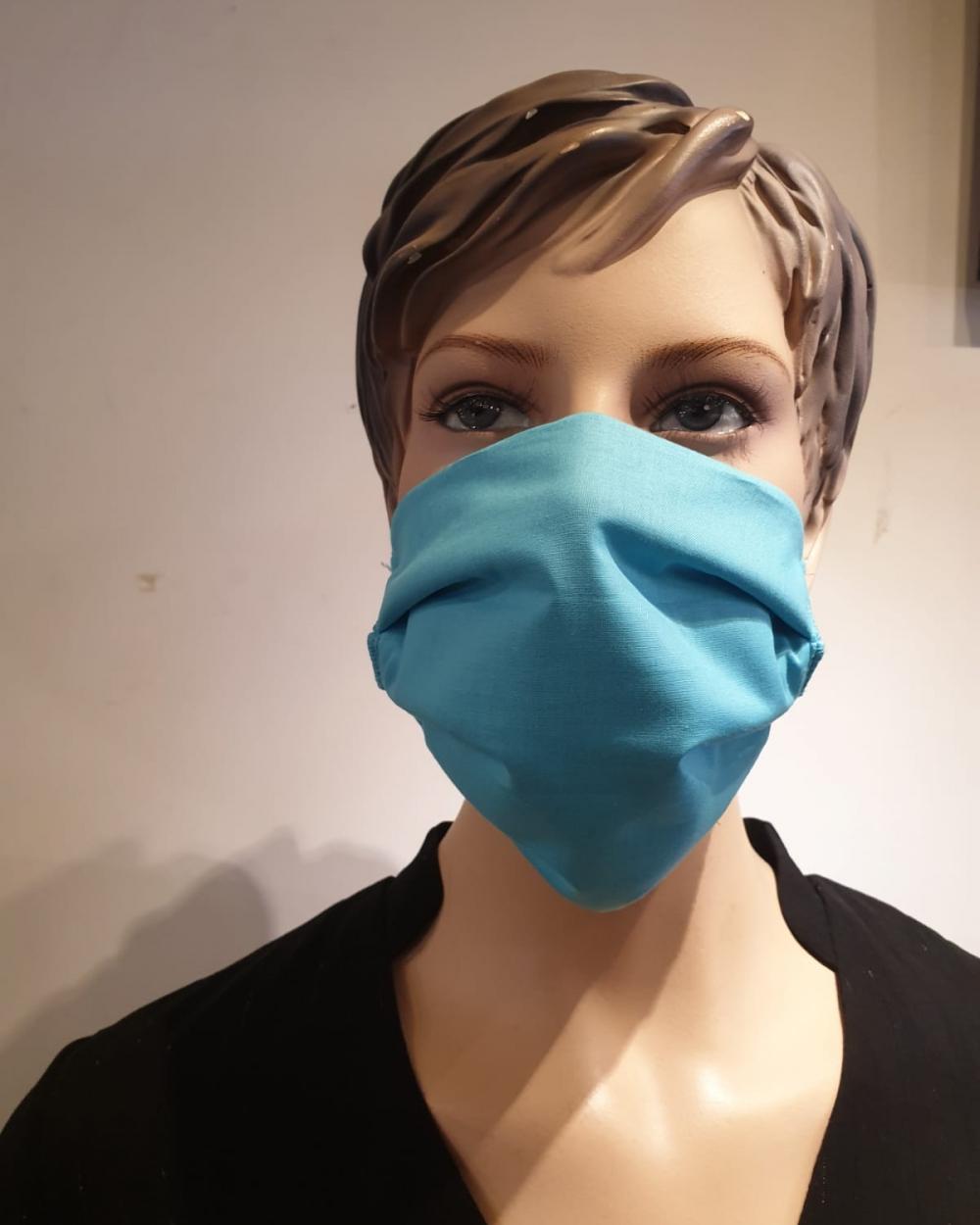 Masque bleu femme