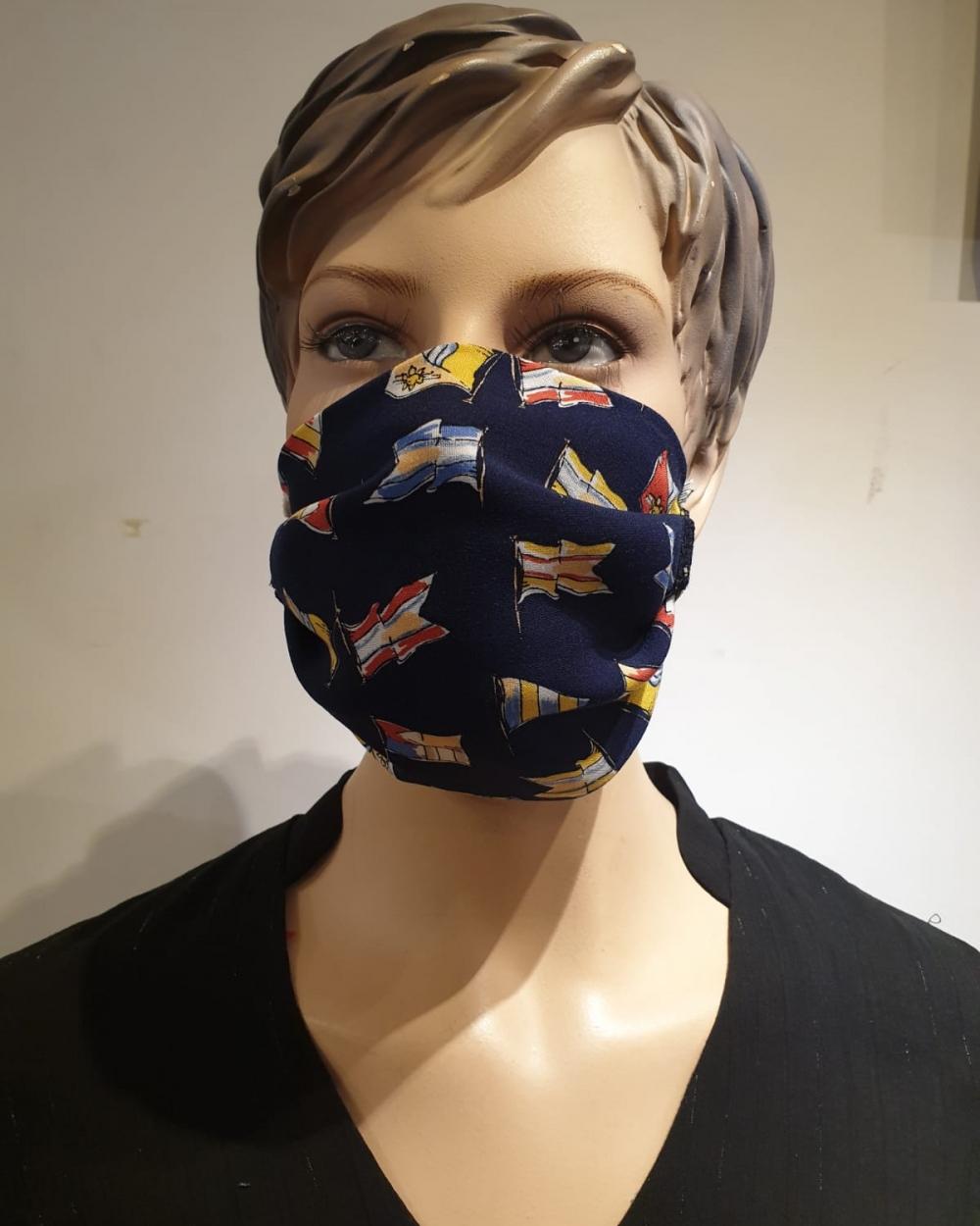 Masque Motifs drapeaux - Covid19