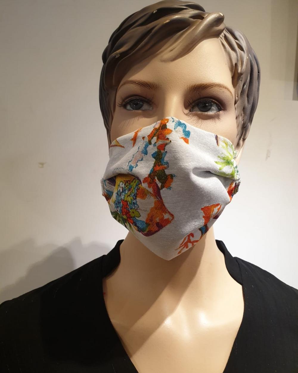 Masque Motifs plantes - Covid19