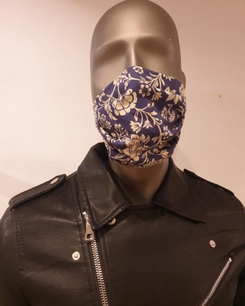 Masque bleu Fleuri